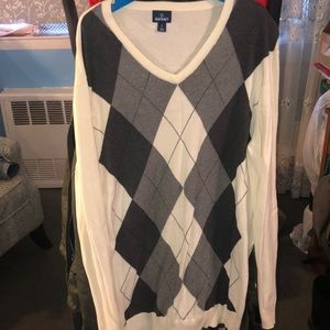Argyle pull over sweater
